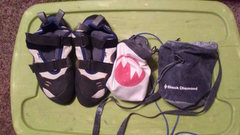 Rock Climbing Photo: shoe/chalk bag