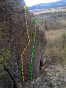Rock Climbing Photo: Untitled 1 (Left/Yellow) and Man in Black (Right/G...