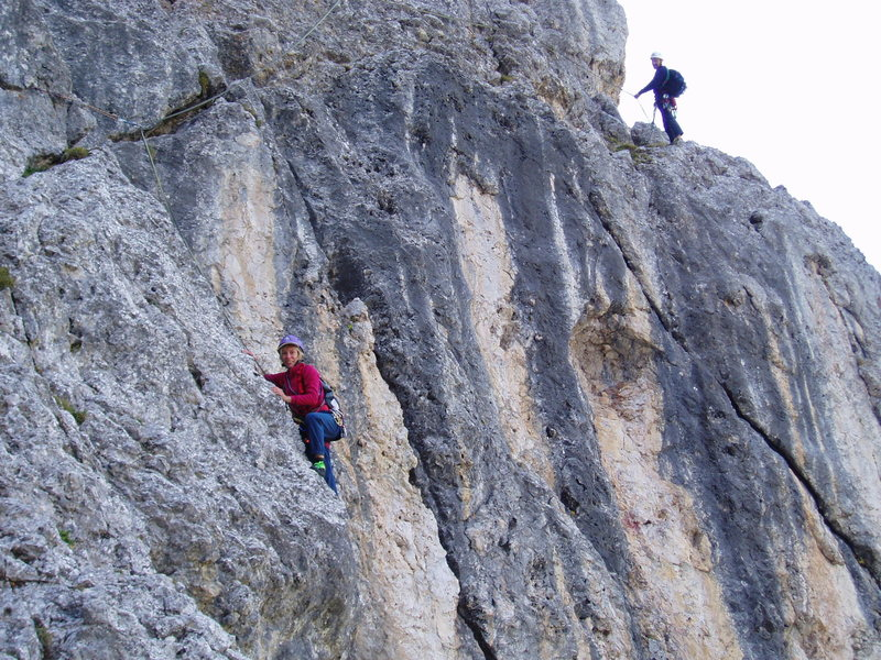 Rock Climbing Photo: About P3 - Catching Up to Another Party on the tra...