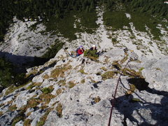 Rock Climbing Photo: On the Ridge!  About P5 or 6 we have passed the pa...