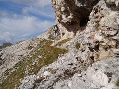 Rock Climbing Photo: S Matz on the last top Class 2/3 section
