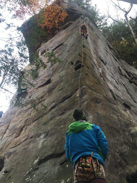 Rock Climbing Photo: Double butt shot