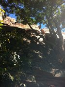 Rock Climbing Photo: The upper part of the route. Watch the rope once a...