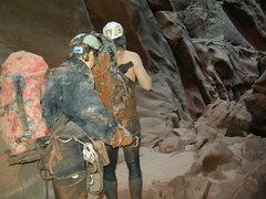Rock Climbing Photo: Canyoneering for some dirty fun.