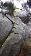 Rock Climbing Photo: Start of Moosehead Crack.  The climb heads up this...
