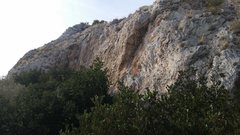 Rock Climbing Photo: Overview of the rightmost (blue) sector of the cli...