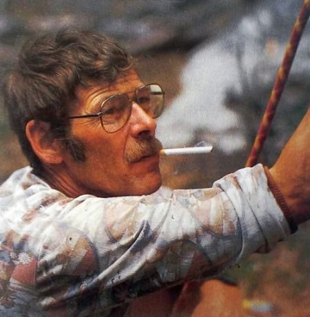 Paul Muehl and his ever-present cigarette, Custer State Park<br> <br> Photo by Beth Wald
