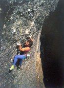 Rock Climbing Photo: Pete de Lannoy on Walking the Plankton (5.12+), Cu...