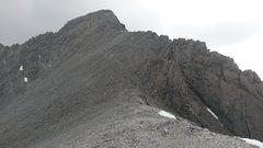 Rock Climbing Photo: Final ridge line to summit