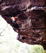 Rock Climbing Photo: Graham Fairbairn on Lush Life (26/5.12c), Nowra  P...