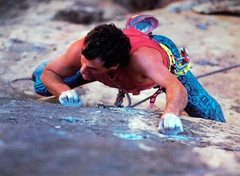 Rock Climbing Photo: Prolific route developer Bob D'Antonio climbin...