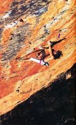 Rock Climbing Photo: Andy Pollit on the 3rd ascent of Serpentine (29/5....