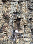 Rock Climbing Photo: Triangular pockets on Highway Noise.