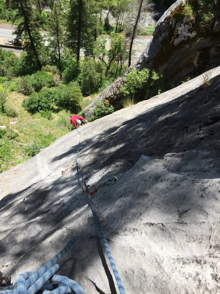 Rock Climbing Photo: Following up after the FA