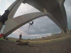 Rock Climbing Photo: Maple Avenue Bridge in Dry Canyon, Oregon