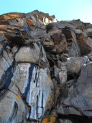Rock Climbing Photo: A (abandoned?) rope dangles down revealing 20 + ft...