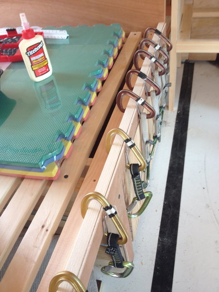 Wood clamps close-up
