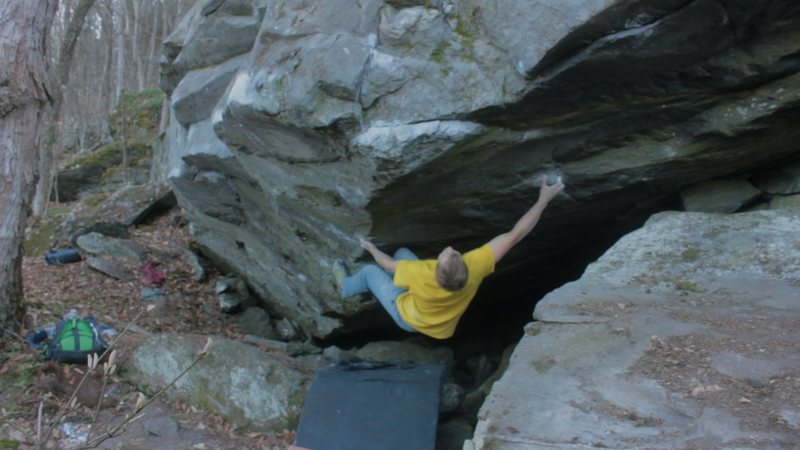 Rock Climbing Photo: Starting position.