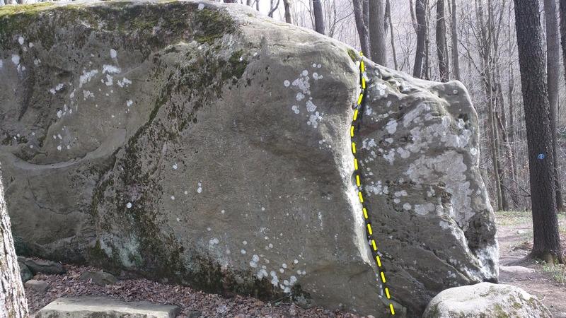 Rock Climbing Photo: Far right climb on the photo, easy climb, your dow...
