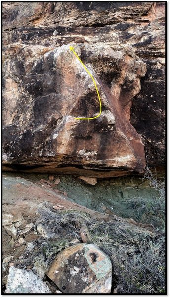 Rock Climbing Photo: Orison problem beta.