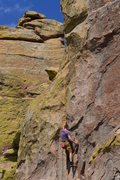 Rock Climbing Photo: Trident starts with thoughtful movement on classic...