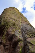 Rock Climbing Photo: Prancer.  The rock at the start leaves a little to...