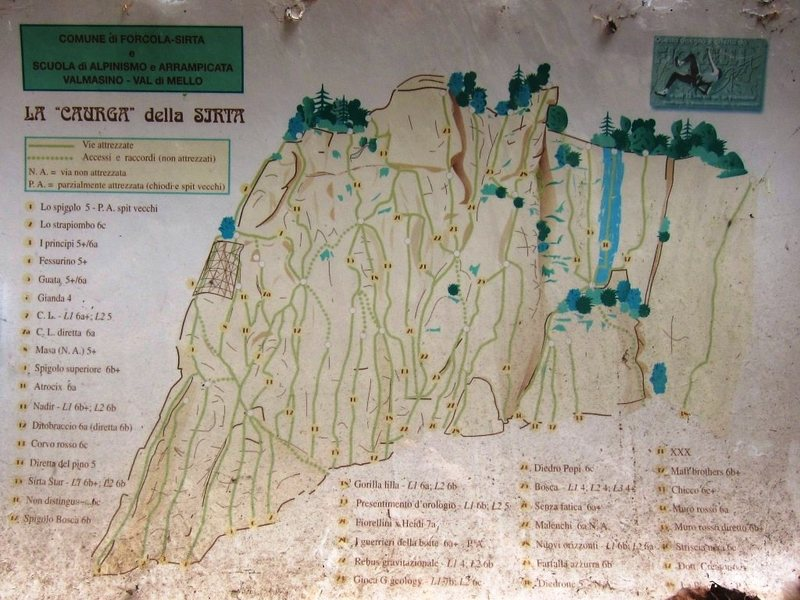 Overview route map at Sirta