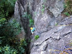 Rock Climbing Photo: Coming up the first pitch of Bosca