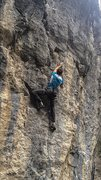 Rock Climbing Photo: Pulling the beautiful crimps up the midsection of ...