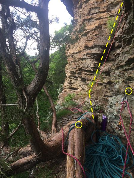 Rock Climbing Photo: P1/2 Anchor/Belay