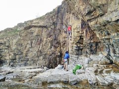 Rock Climbing Photo: Route is on the right side of the Yellow Wall.  Fu...