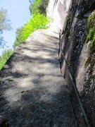 Rock Climbing Photo: Upper half of Pitch 1 of Rattletale.