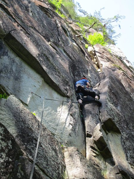 Rock Climbing Photo: Heading up Mourning Star.