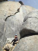 Rock Climbing Photo: warming up on Farley