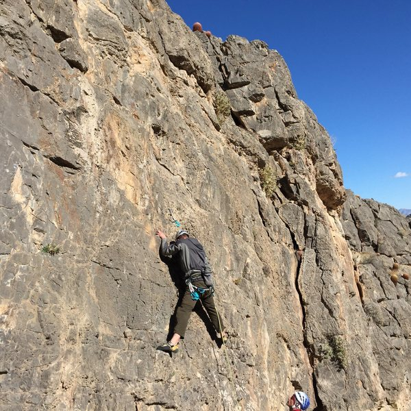 Brian climbing on fossils! ;-)