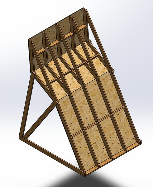 Support structure on rear of wall. Does this look about right?