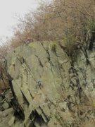 Rock Climbing Photo: Climbers on Shepherds Crag Near Keswick Cumbria