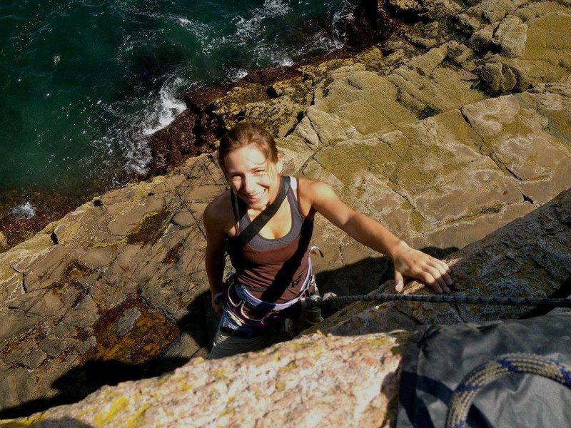 Rock Climbing Photo: Climbing at Otter Cliffs