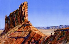 Rock Climbing Photo: On the approach. Watercolor by Paul Alie