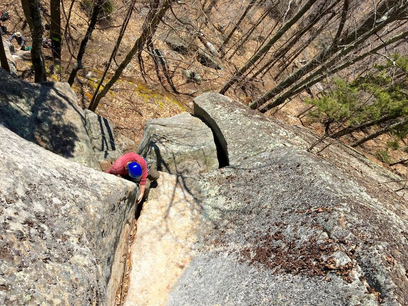 Rock Climbing Photo: top of cabin fever