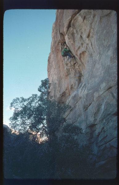 """Rock Climbing Photo: DE on the FA of """"The Beav."""""""