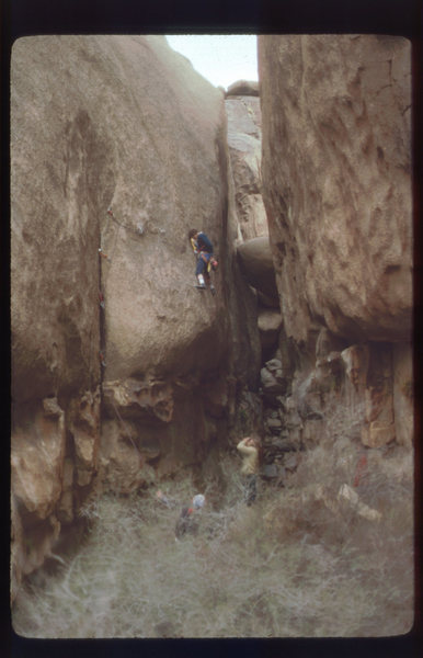 "Rock Climbing Photo: Brian (the brit)(looks like) on the FA of ""Br..."