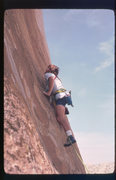 Rock Climbing Photo: Famous guidebook author (RV) on an early ascent of...