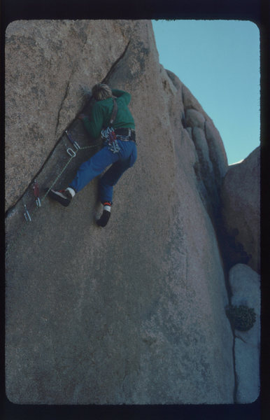 Rock Climbing Photo: DE on FA of Washoe Crack.