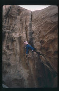 "Rock Climbing Photo: DE on FA of ""Caught Inside on the Big Set.&qu..."