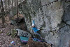 Rock Climbing Photo: Close up of short person beta (its much harder tha...