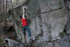 Rock Climbing Photo: Hitting the good hold