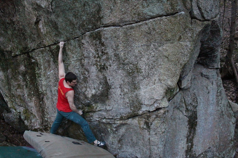 Rock Climbing Photo: Crux move