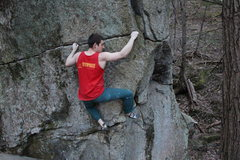 Rock Climbing Photo: One you hit the right end of the traverse go up an...