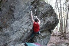 Rock Climbing Photo: Sticking the gaston